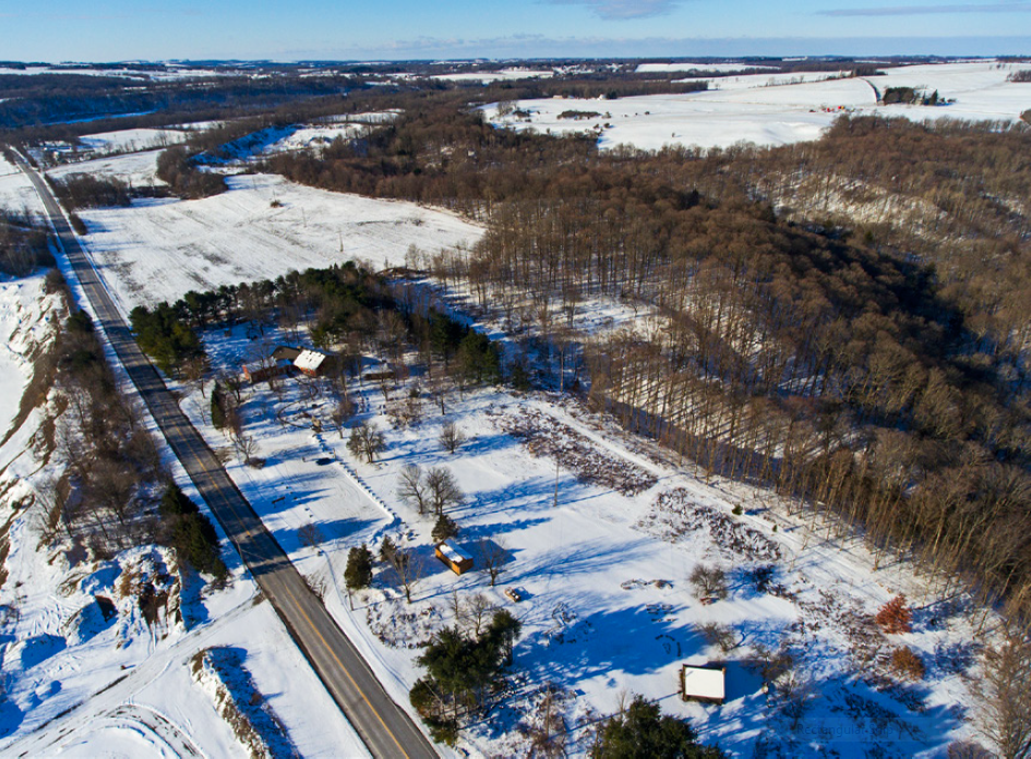 A birds-eye view of the Interpretive Center at Baltimore Woods. Photo courtesy of Matt Champlin.