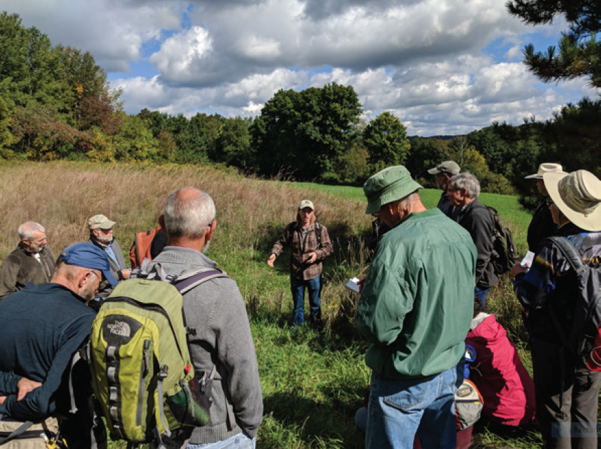 Volunteers participated in the Ecological Restoration Walking Workshop .