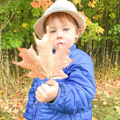 boy-holding-maple-leaf